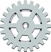 foto of gear wheels  - Mechanical silver toothed cog gear wheel vector - JPG
