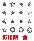 Постер, плакат: Vector Grey Stars Icon Set