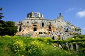 image of euphrat  - ruins of historic simeonis abbey in syria - JPG