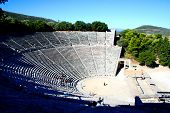 image of epidavros  - view over the historical theatre of epidavros - JPG