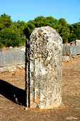 pic of epidavros  - old column at the ancient site of epidavros - JPG