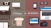 Постер, плакат: Desktop And Devices Evolution