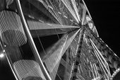 picture of ferris-wheel  - Ferris wheel in amsterdam in Black and white - JPG