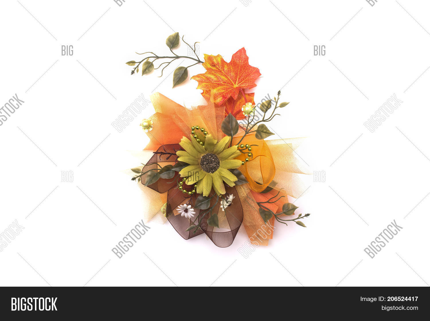 Artificial Autumn Flowers Isolated Image Photo Bigstock