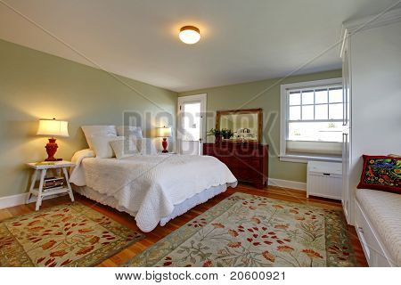 Cozy Bedroom With White Bedding
