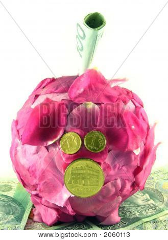Pink Pig Of Money-Box