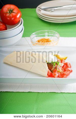 Envoltório de falafel