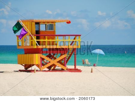 Colorful Lifeguard Stand