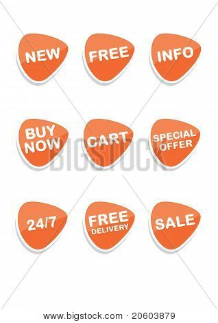 Set Of 9 Vector Online Shopping Icons