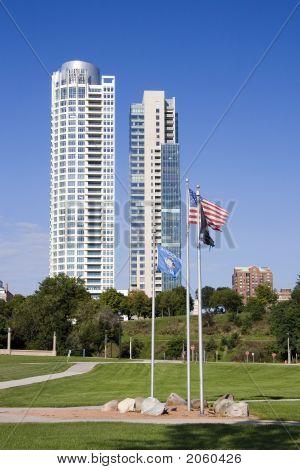 Veterans Park Flags