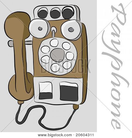 An image of an old payphone telephone.