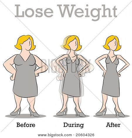An image of a woman losing weight.