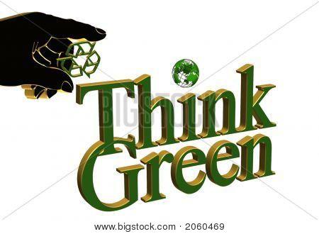 Think Green Illustration