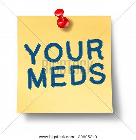 die Medikamente Erinnerung Office-Notiz