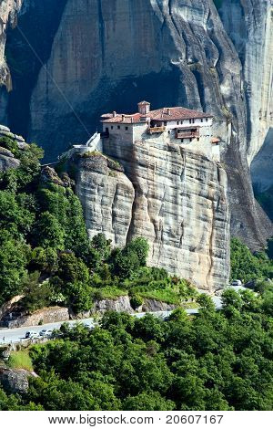 Nunnery Roussanou Under The Roc, Meteora, Greece