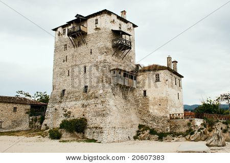 Sentry Serf Tower On Coast, Ouranoupoli