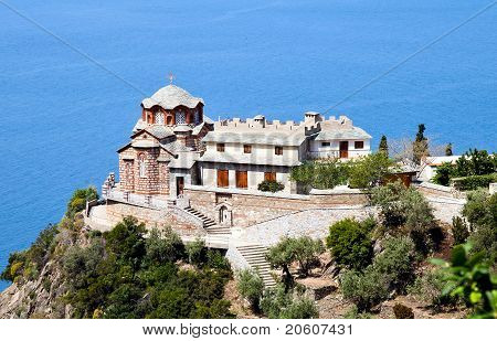 Temple Of Sacred George's Monastery, Athos