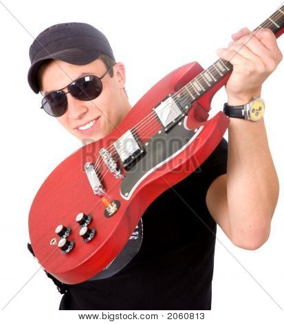 Male Guitar Player