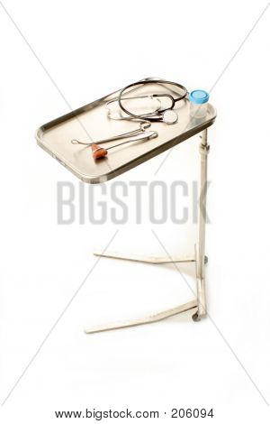 Medical Tray On White