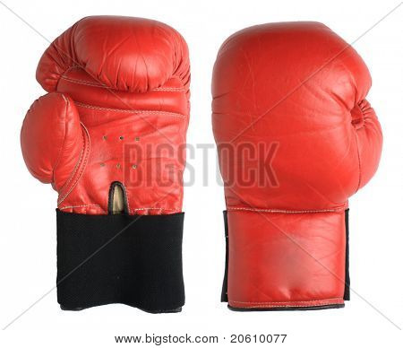 Boxhandschuhe, isolated on white background