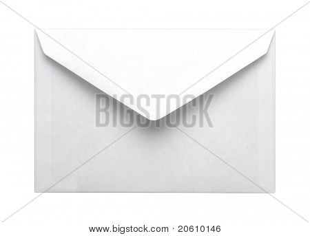 Papier Umschlag isoliert auf weißem Hintergrund