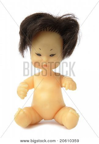 Chinese Weird Doll isolated on white