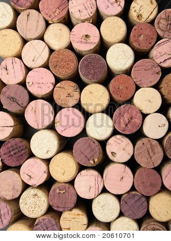 Background of cork tops