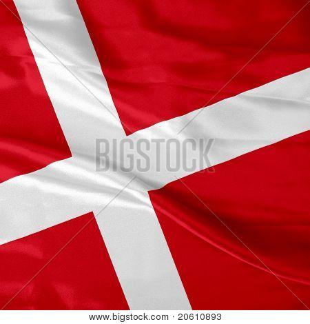 Danish flag waving