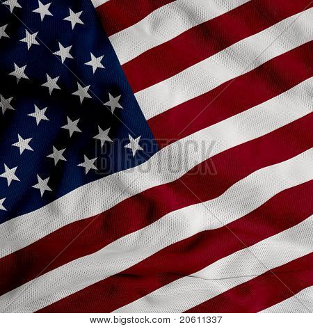 Close up of the American flag