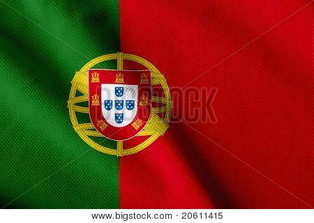Satin  Portuguese flag