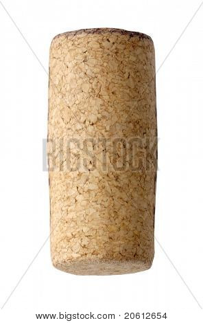Blank cork isolated on white background