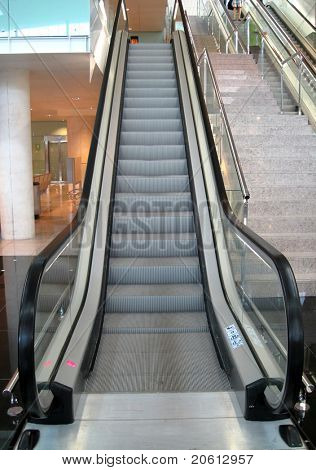 Escalator going up