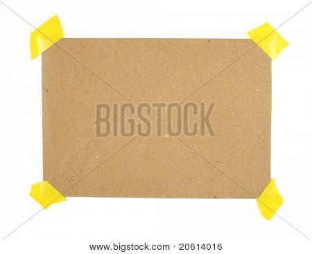 Piece of recycled paper - Insert text here