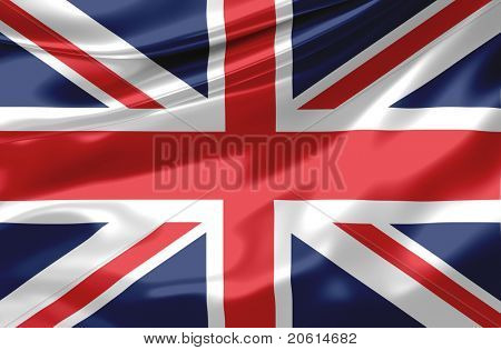 Satin UK-Flagge