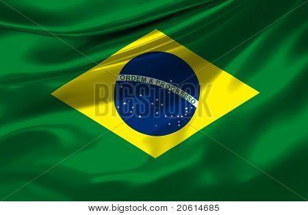 Satin Brazil flag