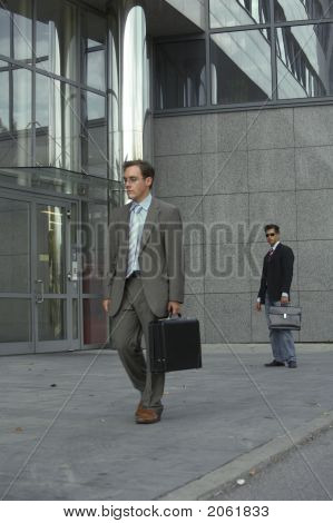 Frustrated Business Man Is Walking Away