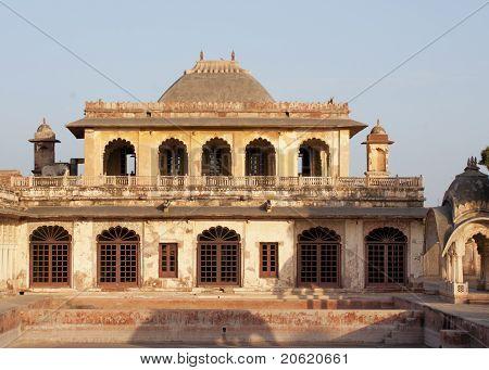 Eastern part of Nagaur's palace in Rajasthan during sunset.