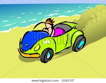 Beach buggy llustration : Bigstock