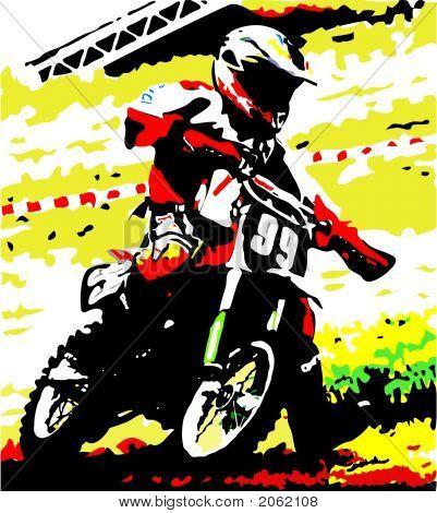 Dirt Bike Racer : Bigstock