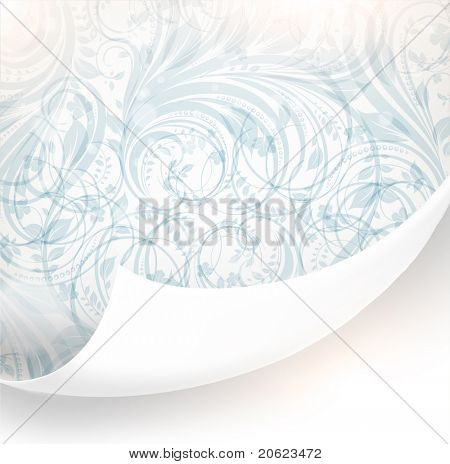 Fondo floral transparente rasgada de diseño vintage. Lugar libre para el texto. Luz ornamento con abstrac