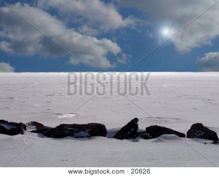 Gefrorene Tundra