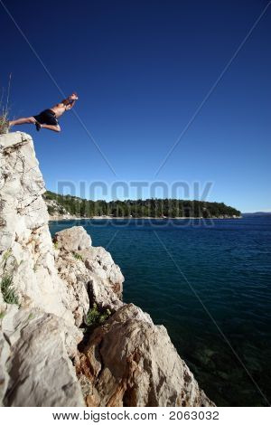Young Man Leaping