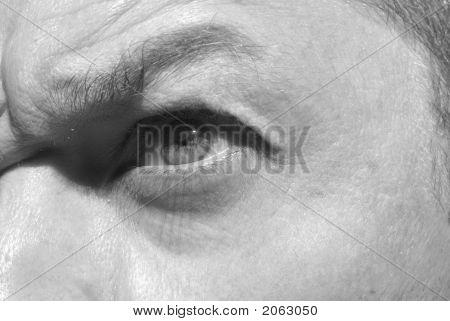 Angry Male Eye