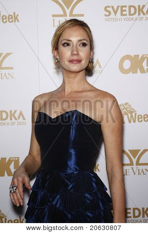 WEST HOLLYWOOD - FEB 25:  Ashley Jones arriving at the OK! Magazine and BritWeek celebrate the Oscars party held at the London Hotel in West Hollywood, California on February 11, 2011.