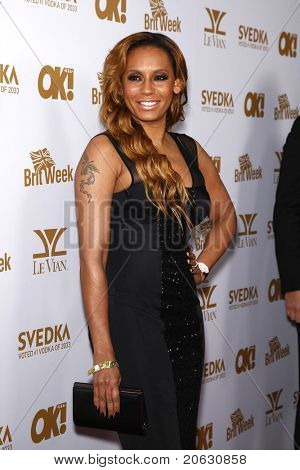 WEST HOLLYWOOD - FEB 25:  Mel B aka Melanie Brown arriving at the OK! Magazine and BritWeek celebrate the Oscars party held at the London Hotel in West Hollywood, California on February 11, 2011.