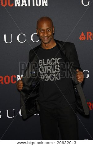 WEST HOLLYWOOD - FEB 12:  Stephen Hill arriving at the Gucci and RocNation Pre-GRAMMY Brunch held in West Hollywood, California on February 12, 2011.