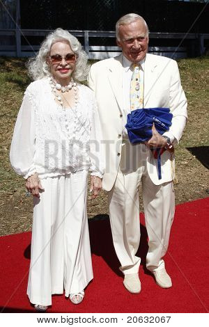 LOS ANGELES - OCT 10:  Buzz Aldrin and wife Lois arriving at the Veuve Cliquot Polo Classic Los Angeles at Will Rogers Park, Los Angeles, California on October 10,  2010.