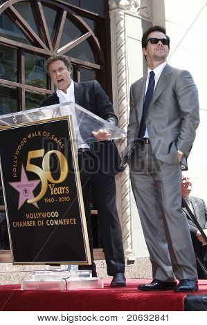 LOS ANGELES - JUL 29:  Mark Wahlberg, Will Ferrell at a ceremony where Mark Wahlberg receives a star on the Hollywood Walk of Fame on July 29, 2010 in Los Angeles, California.
