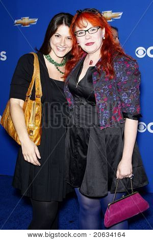 LOS ANGELES - SEP 16:  Melanie Goldstein and Kirsten Vangness arriving at the CBS Fall Season Premiere Event at The Colony in Los Angeles, California on September 16, 2010.