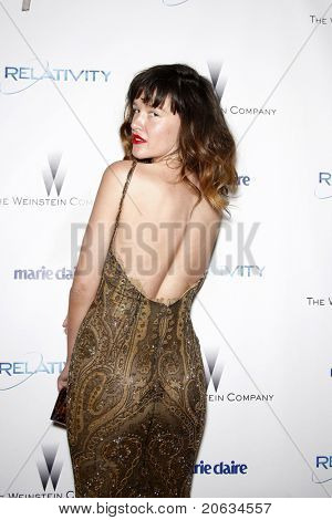 BEVERLY HILLS, CA - JAN 16:  Paz De La Huerta arrives at the Weinstein Golden Globes Party at the Beverly Hills Hilton, California on January 16, 2011 in Beverly Hills, CA.